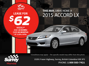 Save on the all-new 2015 Honda Accord today!