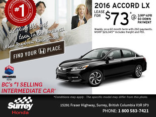Lease an All-New 2016 Honda Accord LX Today!