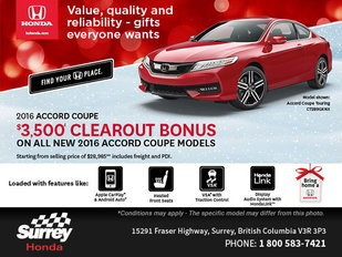 Save Big on the All-New 2016 Honda Accord Coupe Today!