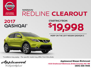 Save on the 2017 Nissan Qashqai today