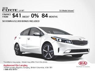 Get the 2018 Kia Forte Today