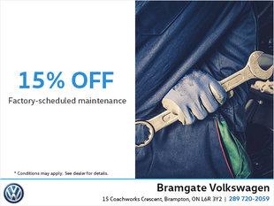 Factory-Scheduled Maintenance Discount