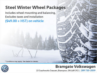 Steel  Winter Wheel Packages!