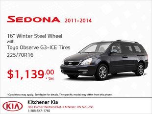 Get Winter Steel Wheel Tires for Your Sedona (2011-2014)!