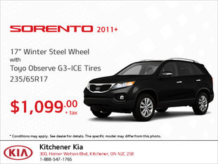 Get Winter Steel Wheel Tires for Your Sorento!