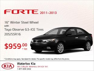 Get Winter Steel Wheel Tires for Your Forte!