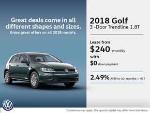 Get the 2018 Golf 3-Door Today