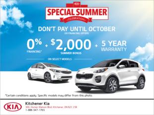 Kia Special Offers & Discounts | Kitchener Kia