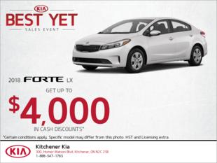 Get the 2018 Kia Forte!