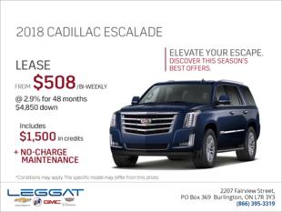 Elevate your escape - 2018 Cadillac Escalade