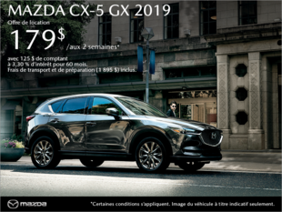 Procurez-vous la Mazda CX-5 2019 aujourd'hui!