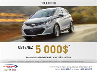 Obtenez le Chevrolet Bolt 2019
