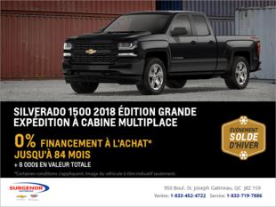 Financez le Chevrolet Silverado 2018