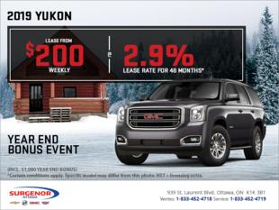 The 2019 GMC Yukon