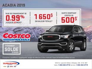 Le GMC Acadia 2019