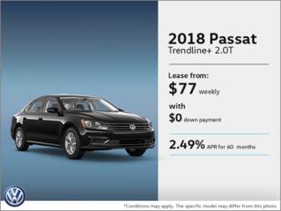 Lease the 2018 Passat!