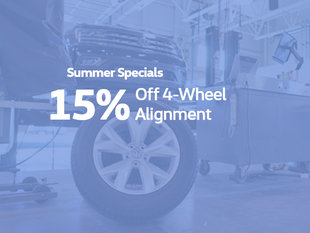 15% Off Wheel Alignment