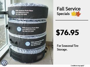 $76.95 Tire Storage
