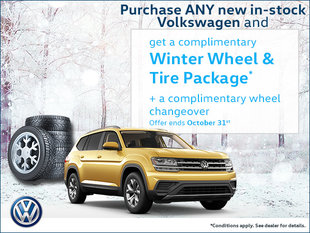 Get a complimentary winter wheel & tire package