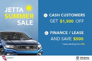 Jetta Summer Sale