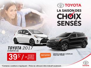L'événement La Saison des choix senses chez Toyota!