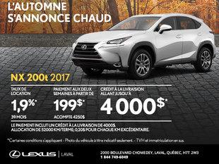 Louez la nouvelle Lexus NX 2017 dès aujourd'hui!