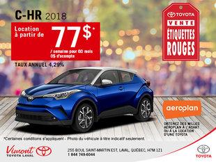 La Toyota C-HR 2018 en rabais!