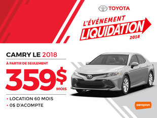 CAMRY LE 2018