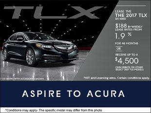 Save on the All-New 2017 TLX
