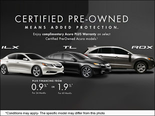 Save on a Certified Pre-Owned Acura Today!