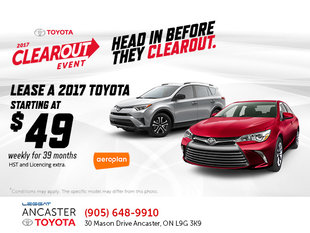 Toyota's 2017 Clearout Event