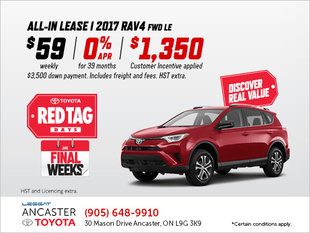 Lease the 2017 RAV4 LE Today!