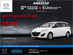 Save on the 2017 Mazda5 GS