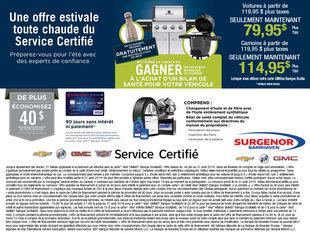 Une offre estivale toute chaude du service certifié