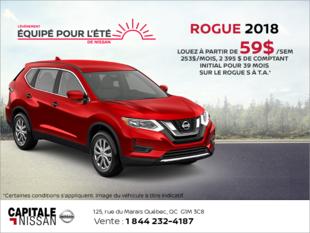 Louez le Nissan Rogue 2018! chez Capitale Nissan