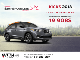 Nissan Kicks 2018 chez Capitale Nissan