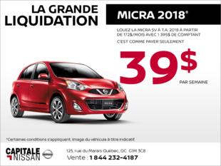 La Nissan Micra 2018! chez Capitale Nissan