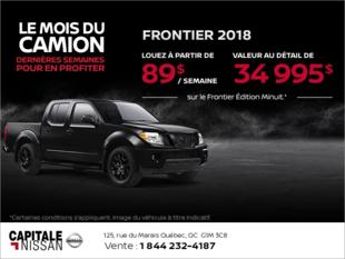 Obtenez le Nissan Frontier 2018 dès aujourd'hui! chez Capitale Nissan