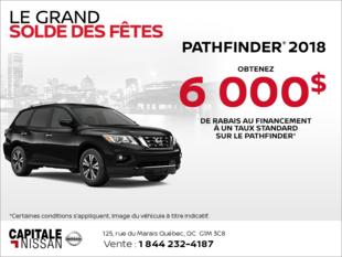 Obtenez le Nissan Pathfinder 2018 dès aujourd'hui! chez Capitale Nissan