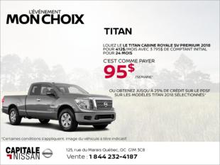 Louez le Nissan Titan 2018 dès aujourd'hui! chez Capitale Nissan