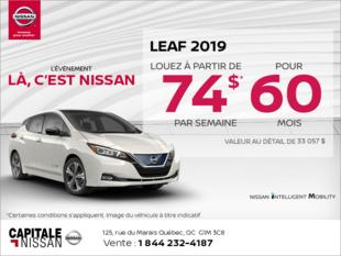 Obtenez la Nissan Leaf 2019 dès aujourd'hui! chez Capitale Nissan