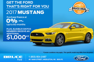 Get the 2017 Ford Mustang Today!
