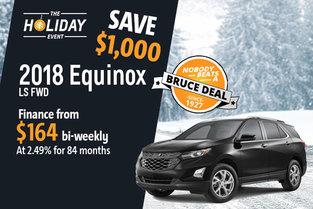 Get the 2018 Chevrolet Equinox Today!