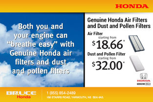 Genuine Honda Air Filters and Dust and Pollen Filters