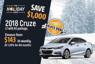 2018 Chevrolet Cruze - Drive it today!