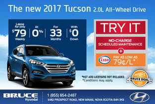 Drive Home in the 2017 Hyundai Tucson!