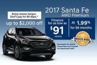 2017 Santa Fe AWD Premium!