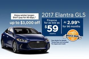 2017 Hyundai Elantra GLS!