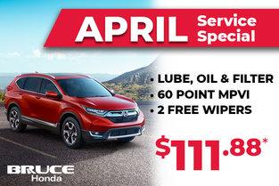 Bruce Honda April Service Special