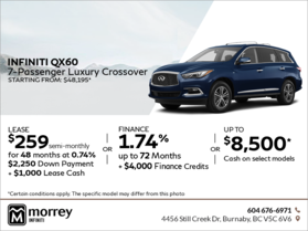2018 Infiniti QX60 7-Passenger Luxury Crossover